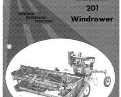 Operator's Manual for Case IH Windrower model 201