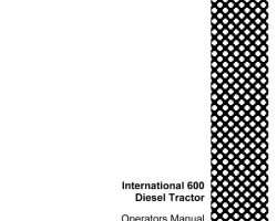 Operator's Manual for Case IH Tractors model 600