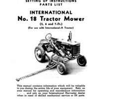 Operator's Manual for Case IH Tractors model 18