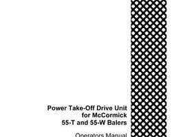Operator's Manual for Case IH Balers model 55W