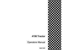 Operator's Manual for Case IH Tractors model 4156