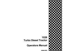 Operator's Manual for Case IH Tractors model 1026
