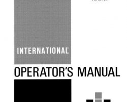 Operator's Manual for Case IH Tractors model 184