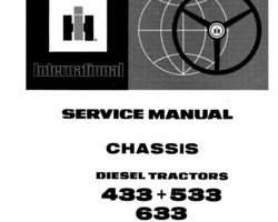 Service Manual for Case IH Tractors model 633