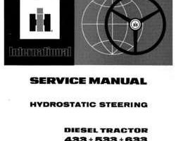 Service Manual for Case IH Tractors model 433