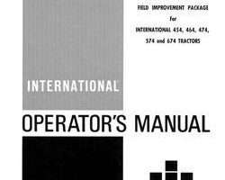 Operator's Manual for Case IH Tractors model 474
