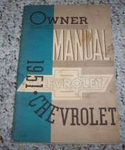 1951 Chevrolet Styleline Owner's Manual
