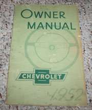 1952 Chevrolet Styleline Owner's Manual