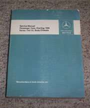 1972 Mercedes Benz 250 & 250C Series 114/115 Chassis & Body Service Manual