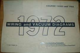 1972 Ford F-250 Truck Large Format Electrical Wiring Diagrams Manual