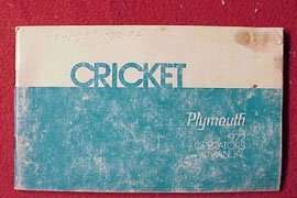 1972 Plymouth Cricket Owner's Manual
