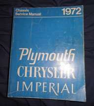 1972 Plymouth Road Runner Chassis Service Manual