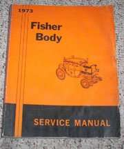 1973 Cadillac Deville Fisher Body Service Manual