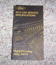 1973 Ford Mustang Specifications Manual