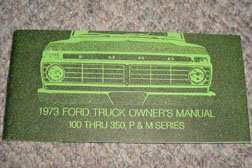 1973 Ford F-100 Truck Owner's Manual