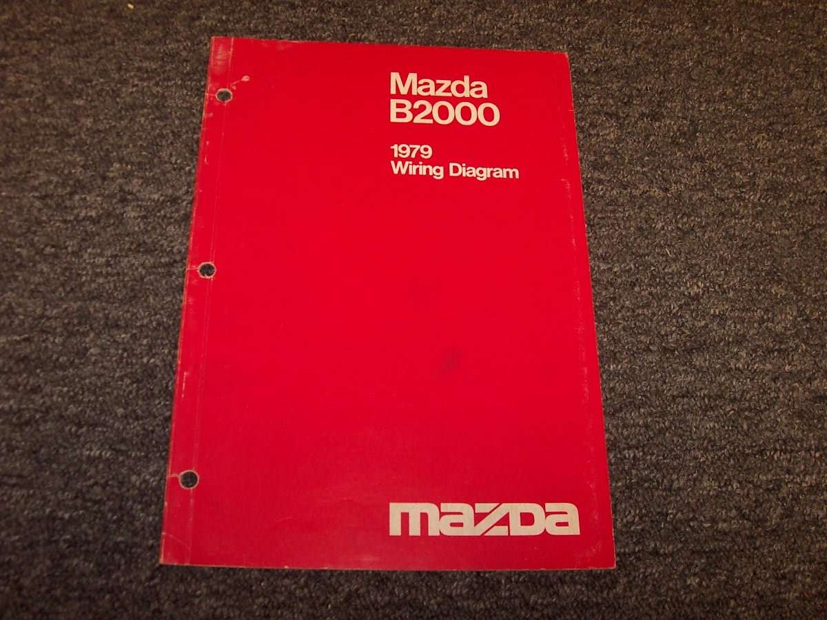 1979 Mazda B2000 Pickup Truck Wiring Diagram Manual