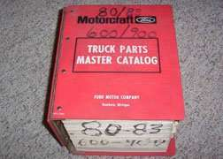 1982 Ford F-700 Truck Master Parts Catalog Text