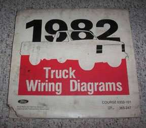 1982 Ford F-800 Truck Large Format Wiring Diagrams Manual