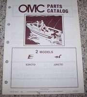 1984 Johnson Evinrude OMC Outboards 2 HP Models Parts Catalog