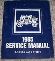 1985 Cadillac Fleetwood Brougham Fisher Body Service Manual