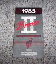 1985 Ford Bronco II Owner's Manual