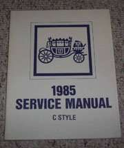 1985 Cadillac Deville Fisher Body Service Manual
