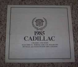 1985 Cadillac Deville & Fleetwood DFI Chassis Foldout Electrical Wiring Circuit Diagrams Manual