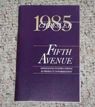 1985 Chrysler Fifth Avenue Owner's Manual