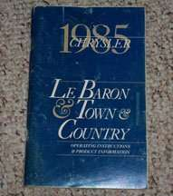 1985 Chrysler Lebaron, Town & Country Owner's Manual