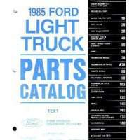 1985 Ford F-250 Truck Parts Catalog Text