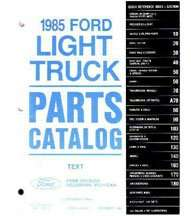 1985 Ford F-Series Truck Parts Catalog Text