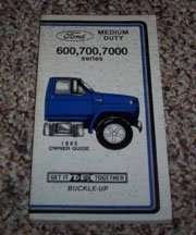 1985 Ford B-Series Truck Owner's Manual