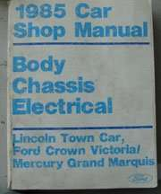 1985 Ford Country Squire Body, Chassis & Electrical Service Manual
