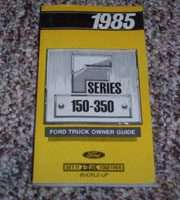 1985 Ford F-250 Truck Owner's Manual