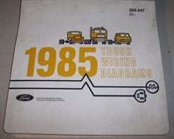 1985 Ford F-250 Truck Large Format Wiring Diagrams Manual