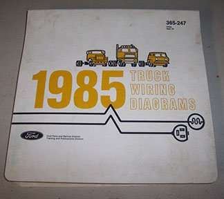 1985 Ford F-700 Truck Large Format Wiring Diagrams Manual