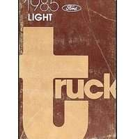 1985 Ford F-250 Truck Specificiations Manual