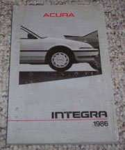 1986 Acura Integra Owner's Manual