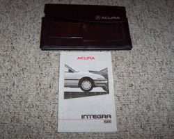 1986 Acura Integra Owner's Manual Set