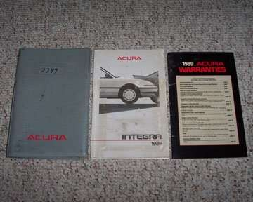 1989 Acura Integra Owner's Manual Set