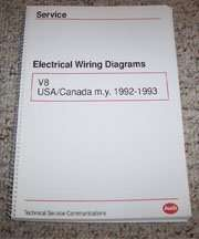 1992 Audi V8 Electrical Wiring Diagrams Manual