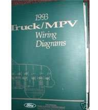 1993 Ford F-150 Truck Large Format Wiring Diagrams Manual