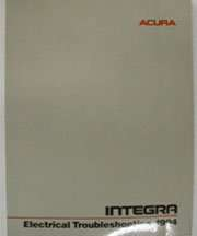 1994 Acura Integra Electrical Wiring Diagram
