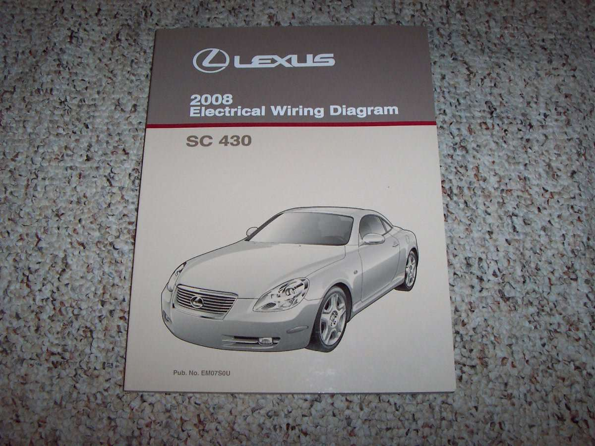 2008 Lexus Sc430 Electrical Wiring Diagram Manual