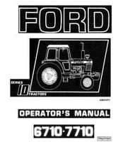 Operator's Manual for FORD Tractors model 7710