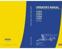 Operator's Manual for New Holland Combine model CX8050