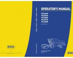 Operator's Manual for New Holland Combine model TC5040