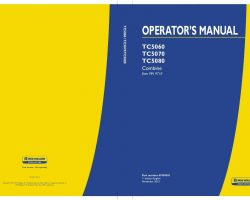Operator's Manual for New Holland Combine model TC5060