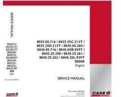 Service Manual for Case IH Engines model 8035.25C.313T