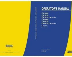 Operator's Manual for New Holland Combine model CX5090
